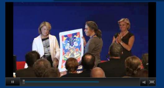 Esther Lehoczky (Arte France), à la remise du prix